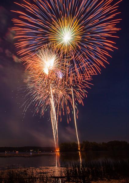 Fireworks at Kensington Metro Park, Milford MI